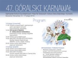 47. Karnawal Góralski - Plakat