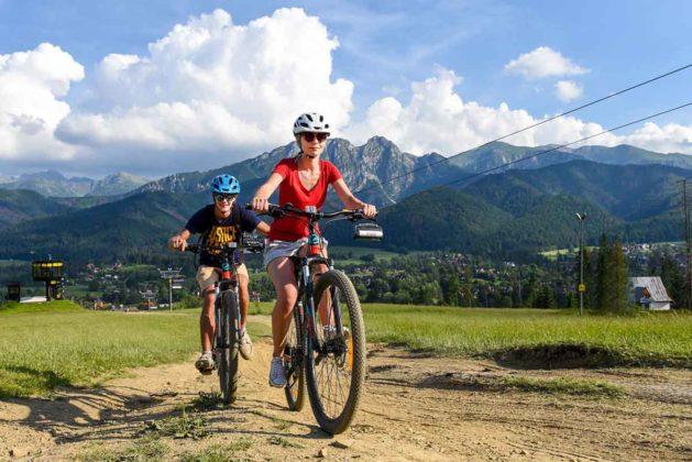 Zjazd rowerem z Gubałówki