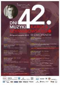 42. Dni Muzyki Karola Szymanowskiego w Zakopanem