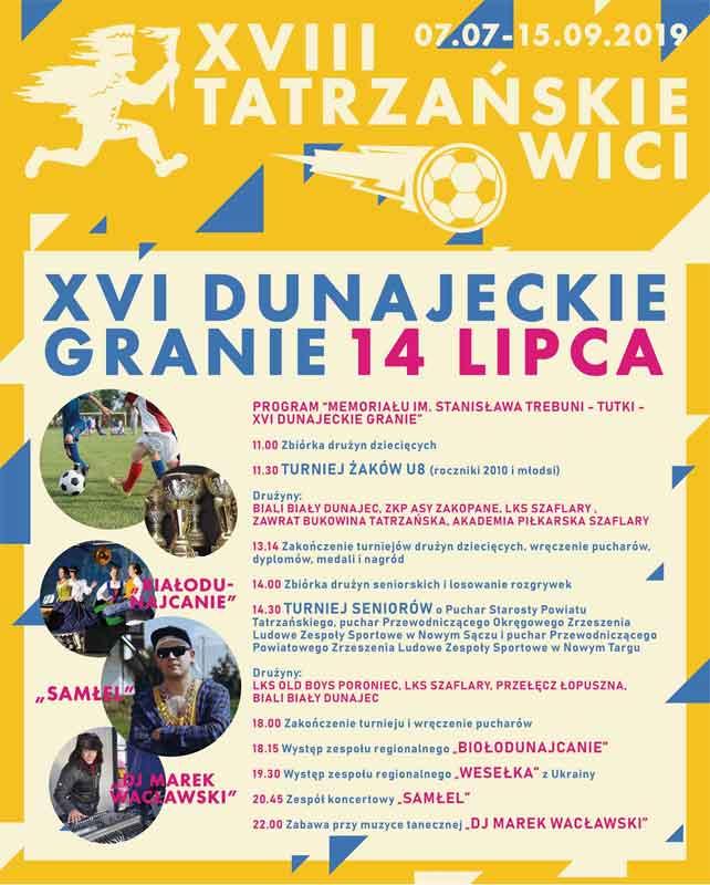 XVI Dunajeckie Granie w Białym Dunajcu
