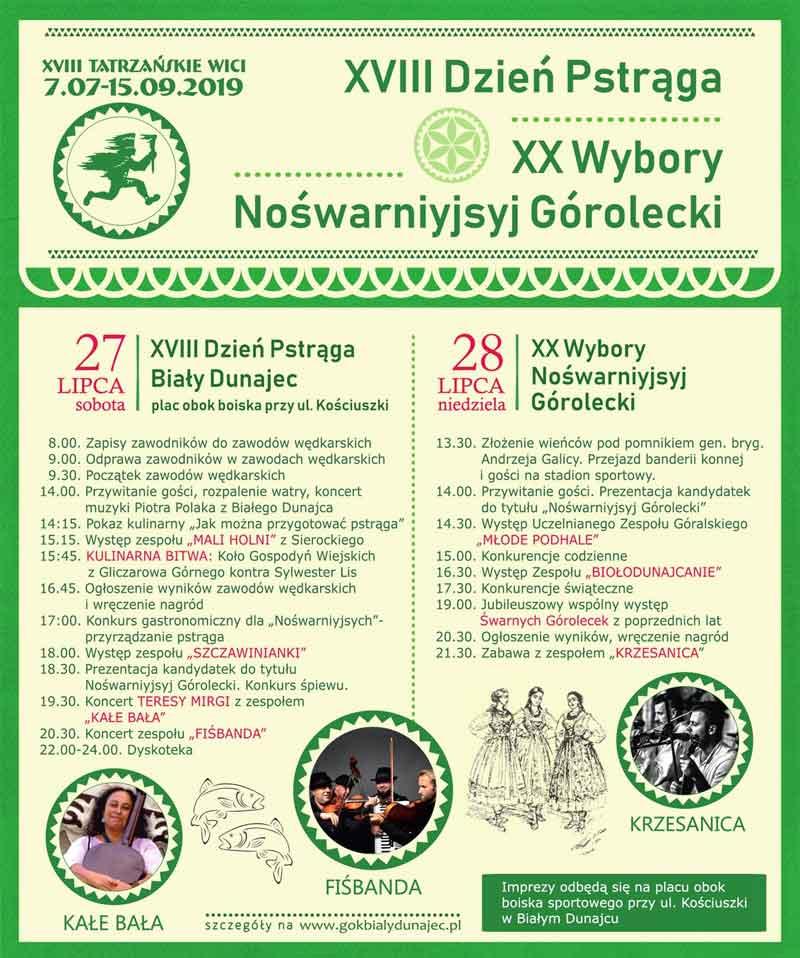 XVIII Dzień Pstrąga i XX Wybory Nojśwarniyjsyj Górolecki