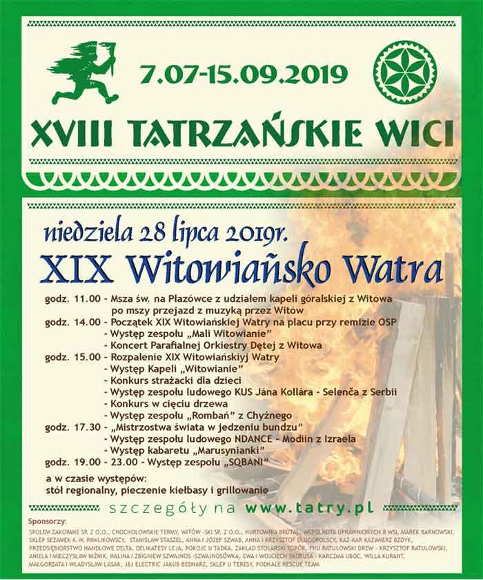 Witowiańsko Watra, program
