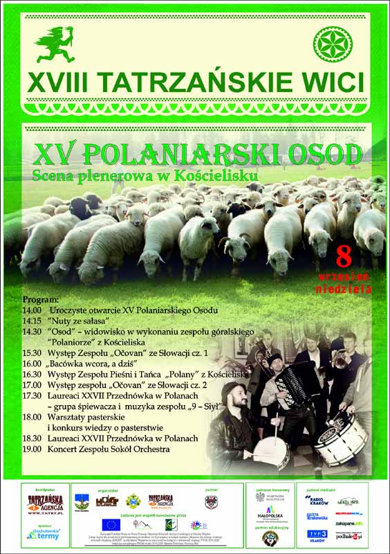 XV Polaniarski Osod, Kościelisko – Kiry, program