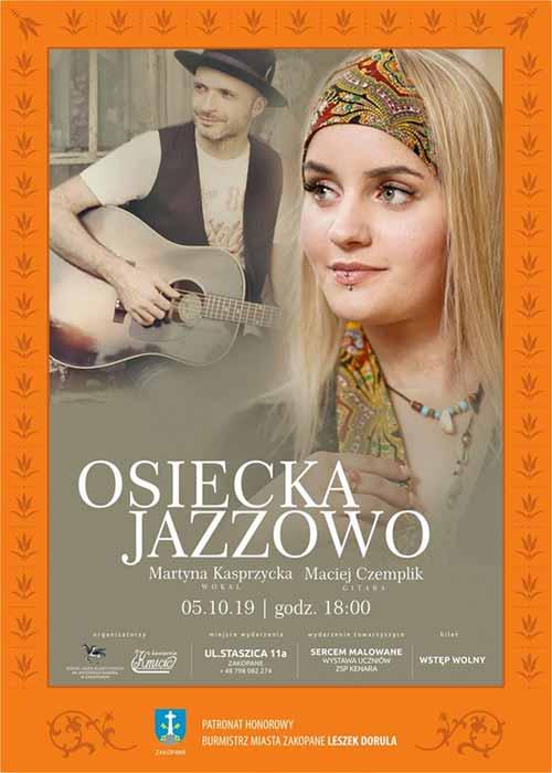 Osiecka Jazzowo - recital Martyny Kasprzyckiej, plakat