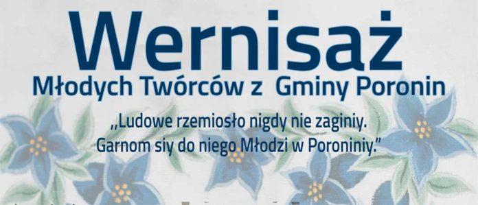 Wernisaż Młodych Twórców z Gminy Poronin, plakat