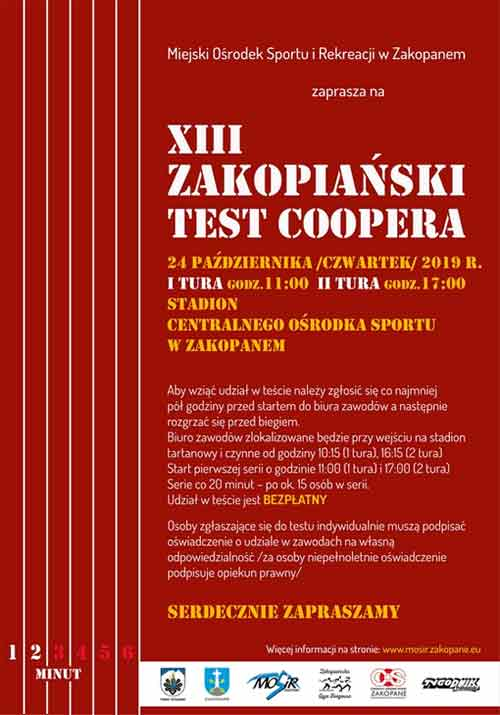 XIII Zakopiański Test Coopera, plakat