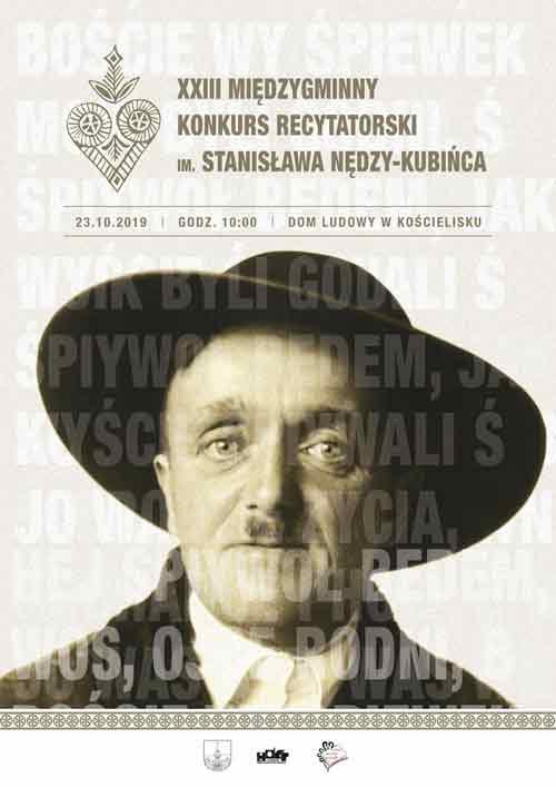 XXIII Międzygminny Konkurs Recytatorski im. Stanisława Nędzy-Kubińca, plakat