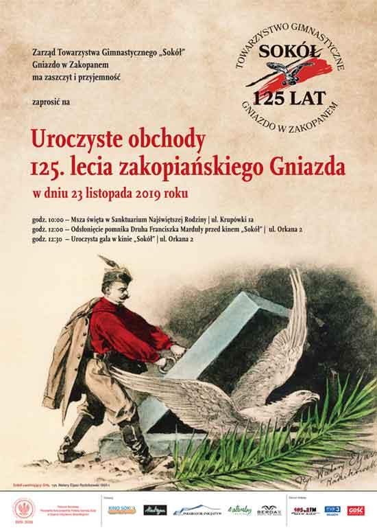125-lecie Gniazda Towarzystwa Gimnastycznego Sokół w Zakopanem, plakat