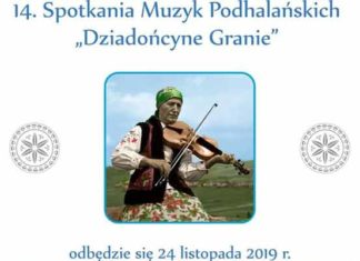 """14. Spotkania Muzyk Podhalańskich """"Dziadońcyne Granie"""", plakat"""