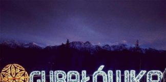 Kraina Światła na Gubałówce, napis Gubałówka