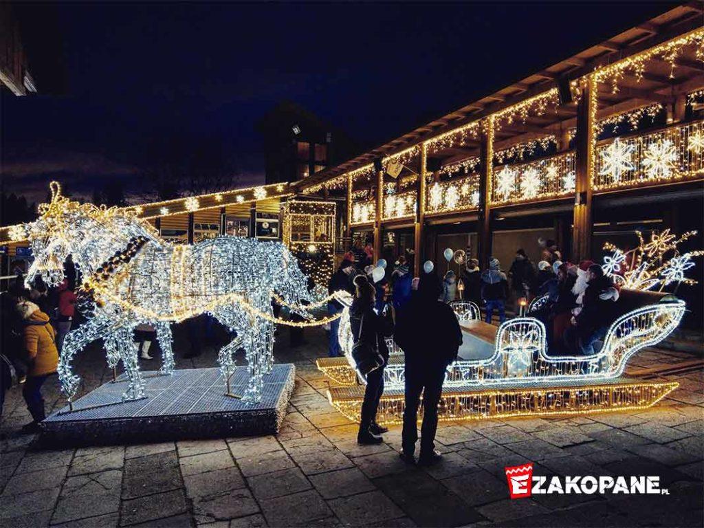 Kraina Światła na Gubałówce, sanie Świetego Mikołaja