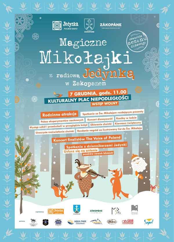 Magiczne Mikołajki z radiową Jedynką w Zakopanem, plakat