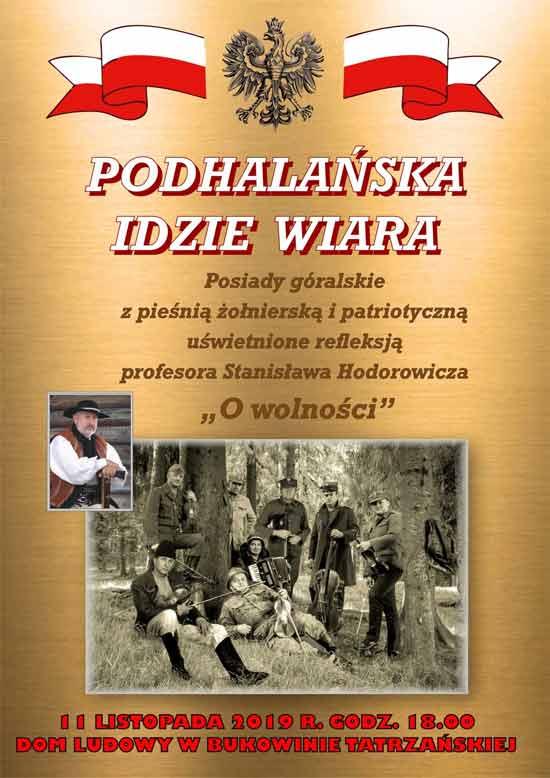 """""""Podhalańska idzie wiara"""", posiady góralskie, Dom Ludowy Bukowina Tatrzańska, plakat"""