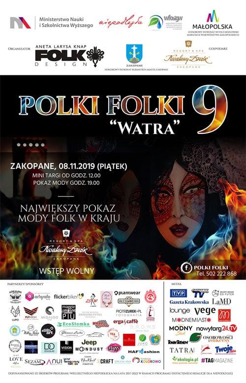 """Folk Polki Folki """"Watra"""" 9, plakat"""
