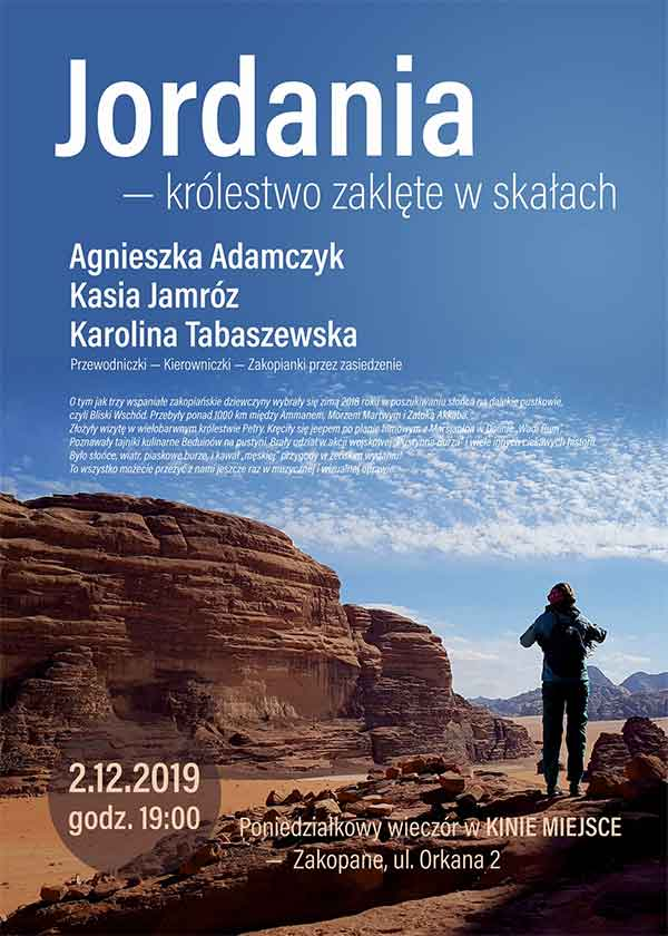Kierunek Jordania, Kino Miejsce w Zakopanem, plakat