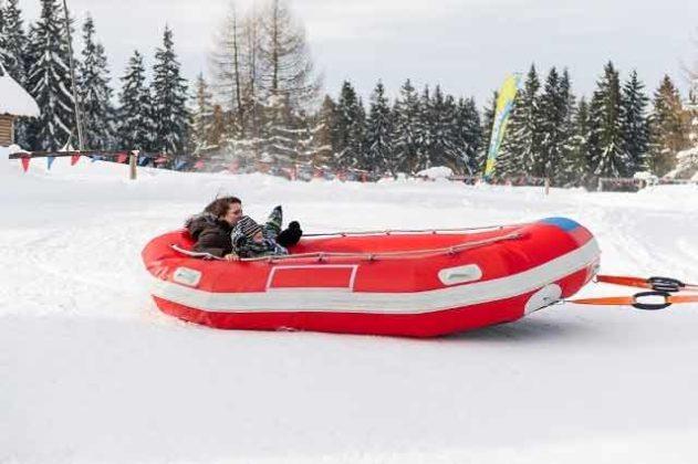 Snowdoo Adventure, snow rafting