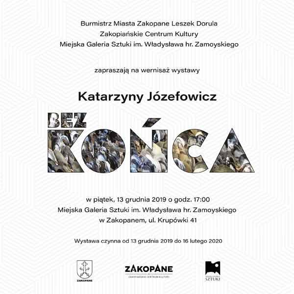"""Wystawa """"Bez końca"""" Katarzyny Józefowicz, plakat"""