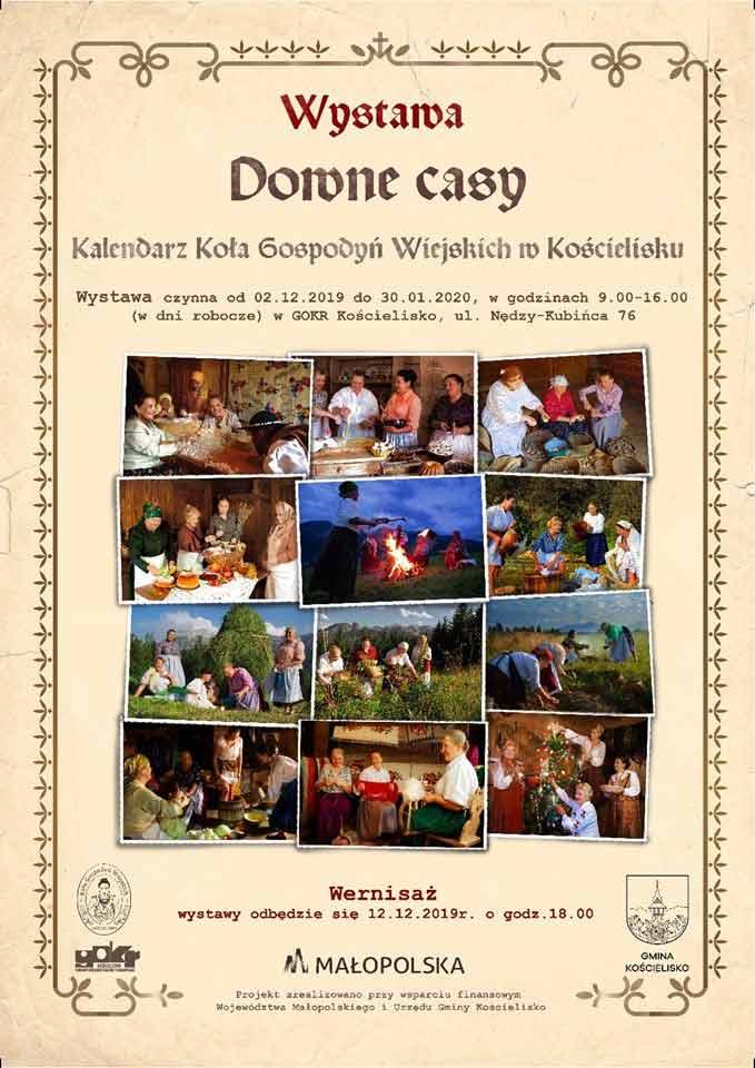 """Plakat """"Downe Casy"""" Koła Gospodyń Wiejskich w Kościelisku"""