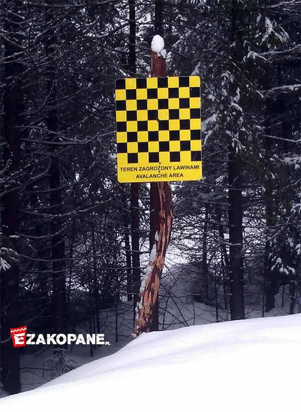 Zagrożenie lawinowe - oznakowanie w górach