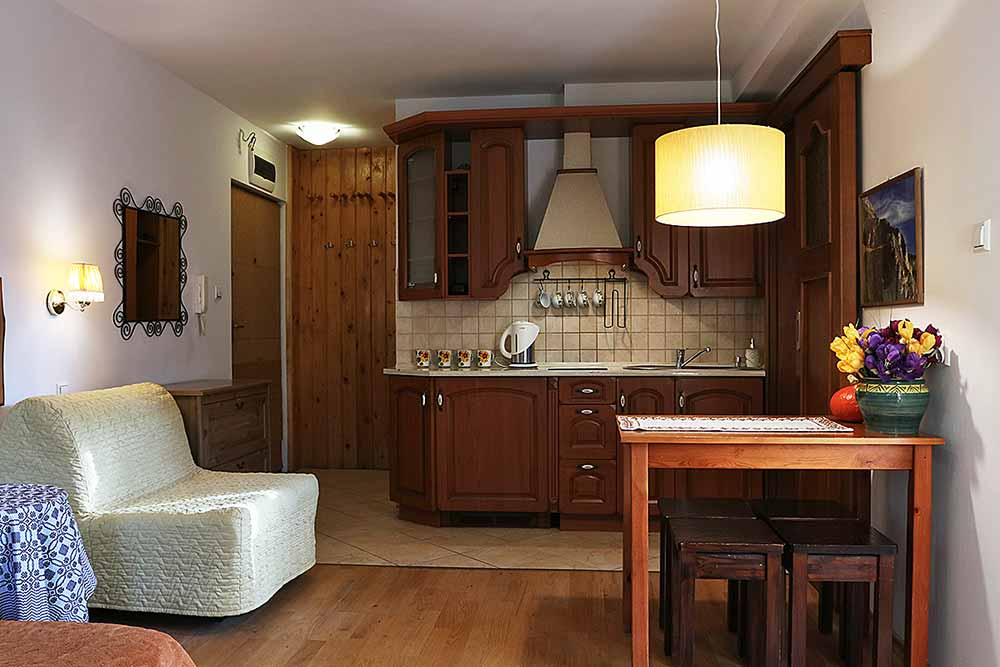 Apartament Kuźnice - aneks kuchenny