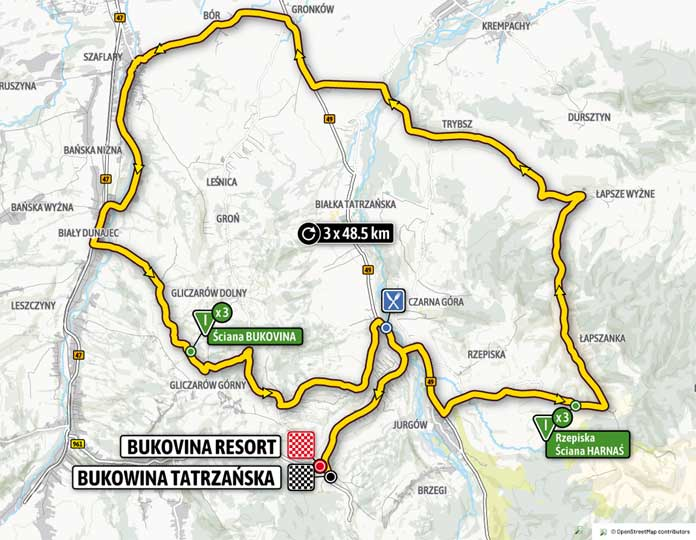 Tour de Pologne 2020 etap 4 Bukovina Resort - Bukowina Tatrzańska