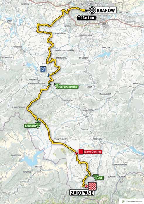 Tour de Pologne 2020 etap 5 Zakopane - Kraków