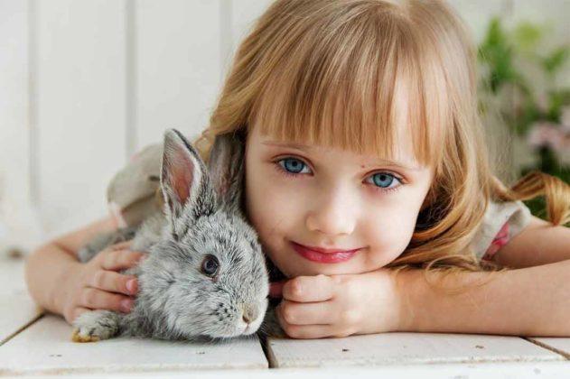 Królikarnia Zakopane, dziewczynka z królikiem