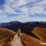 Jesień w Tatrach, szlak turystyczny