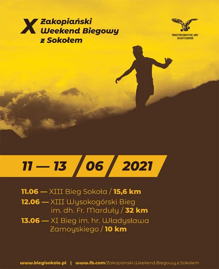 Zakopiański Bieg z Sokołem, plakat i program 2021