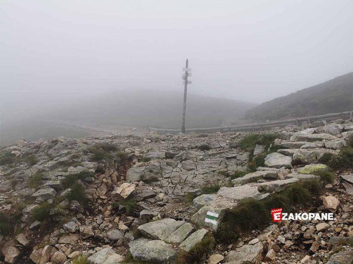 Warunki w Tatrach, niski pułap chmur